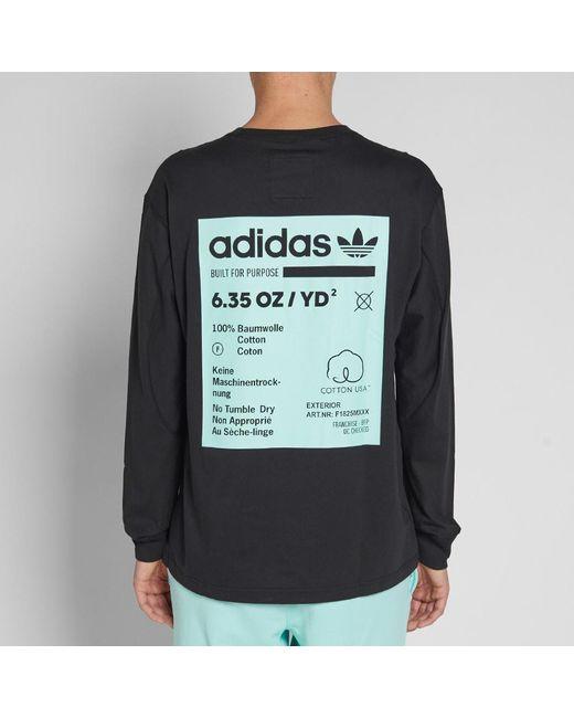 efefb15a ... Adidas - Black Long Sleeve Kaval Grp Tee for Men - Lyst ...