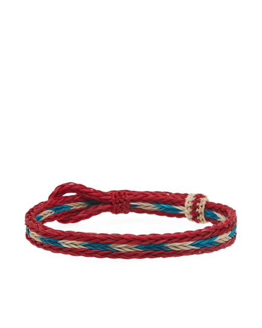 Chamula - Red Braided Horsehair Bracelet for Men - Lyst