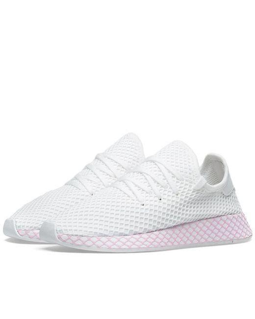 62c60ec43cb95 Lyst - adidas Deerupt W in White - Save 40%