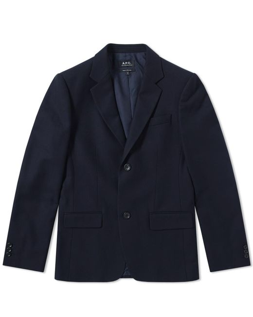 A.P.C. - Blue Truman Blazer for Men - Lyst