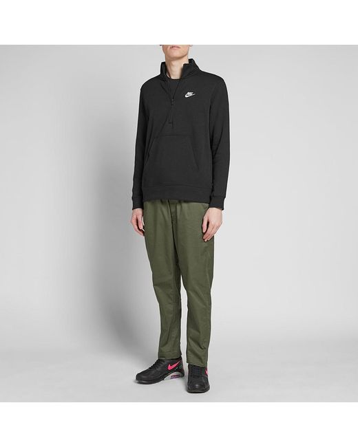 3cfc86329 ... Nike - Black Club Half Zip Sweat for Men - Lyst