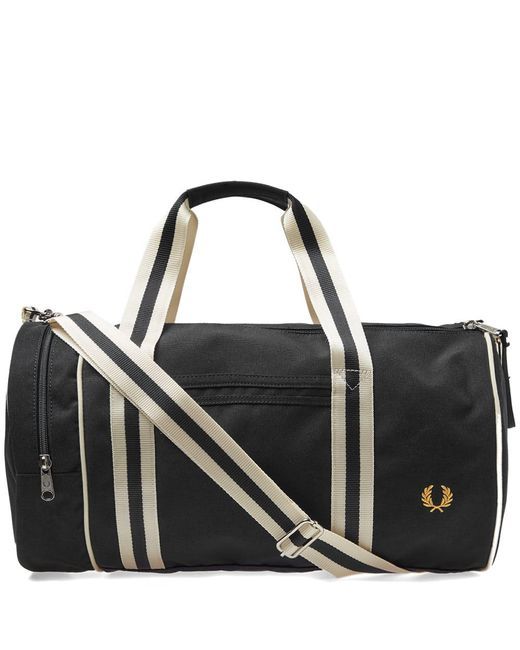 Fred Perry Authentic - Black Fred Perry Twin Tipped Barrel Bag for Men - Lyst
