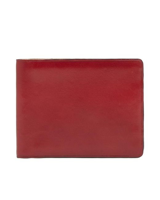 Il Bussetto - Red Bi-fold Wallet for Men - Lyst