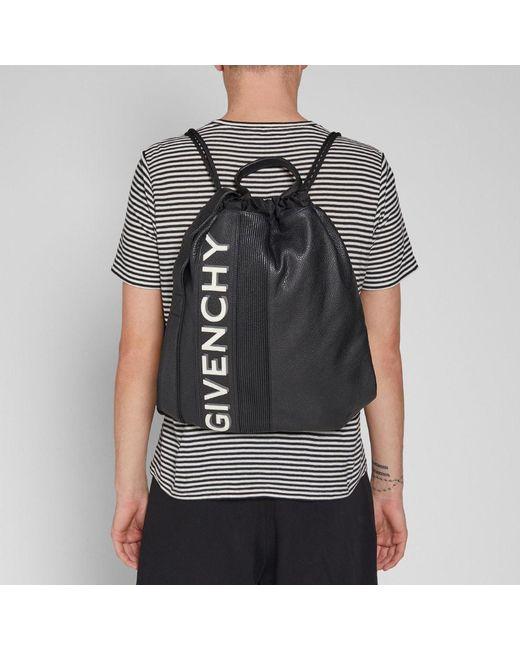 Givenchy Black Drawstring Gym Bag For Men Lyst