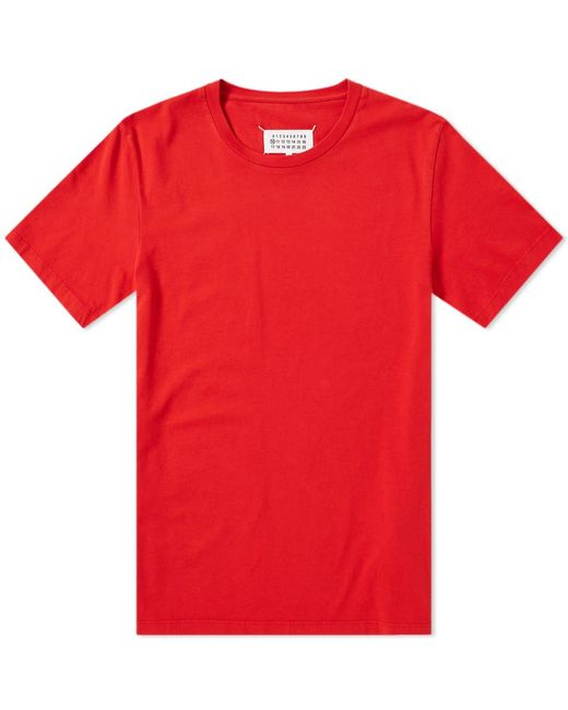 Maison Margiela - Red 10 Classic Tee for Men - Lyst