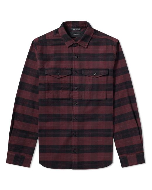 Wings + Horns   Red Flannel Utility Shirt for Men   Lyst