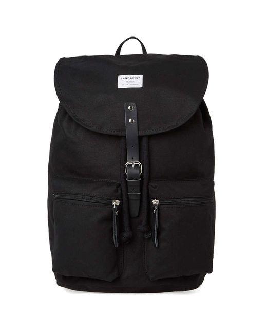 Sandqvist - Black Roald Backpack for Men - Lyst