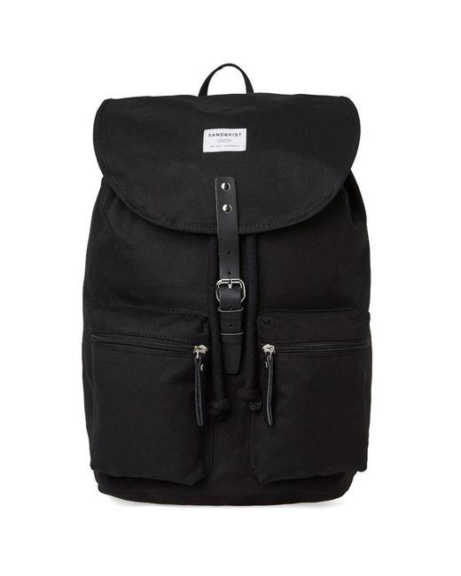 Sandqvist | Black Roald Backpack for Men | Lyst