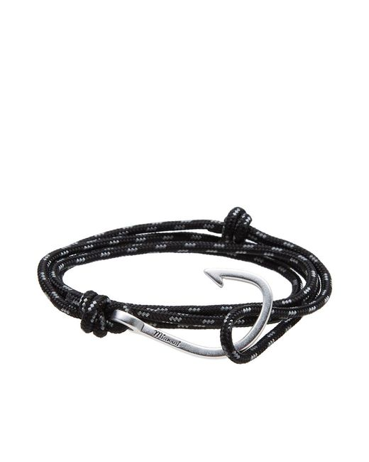Miansai - Black Silver Hook Rope Bracelet for Men - Lyst