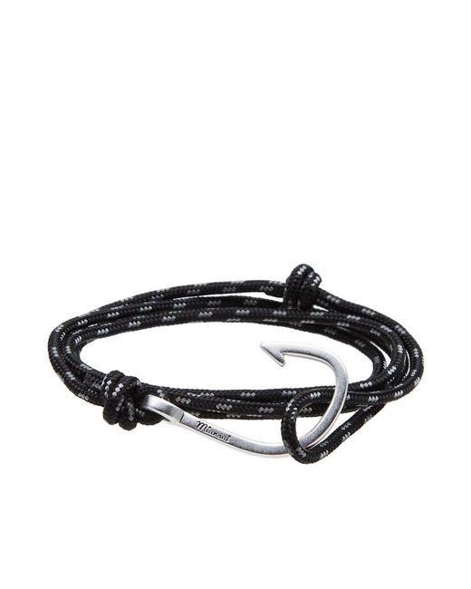 Miansai | Black Silver Hook Rope Bracelet for Men | Lyst