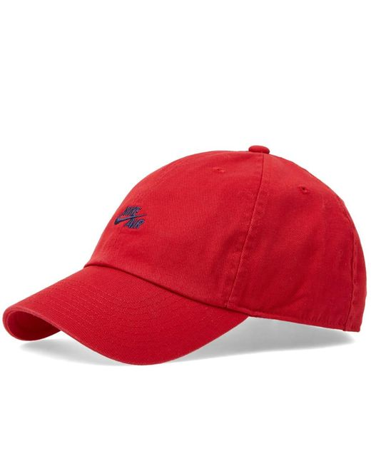 09a6f18ab9f Nike - Red Heritage Classic Cap for Men - Lyst ...