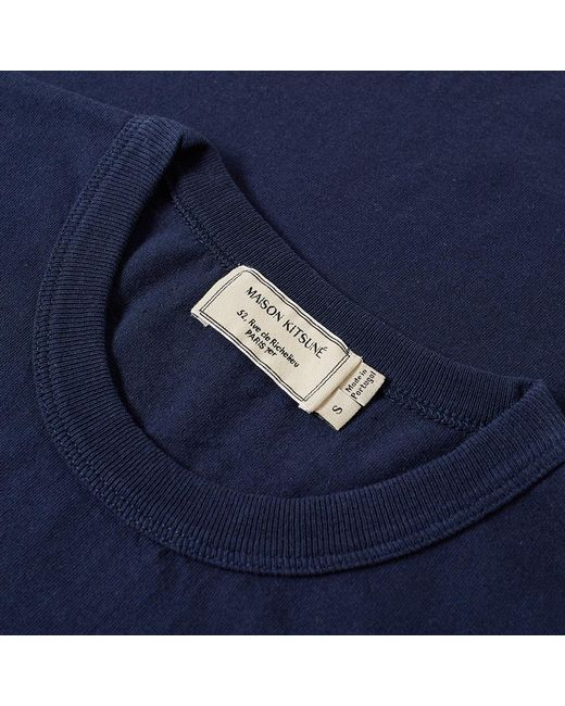 824c25739824 ... Maison Kitsuné - Blue Maison Kitsuné Handwriting Tee for Men - Lyst ...