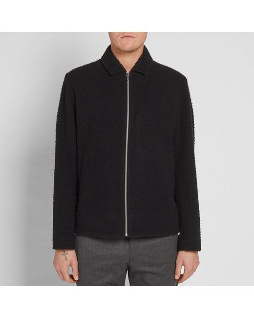 Norse projects Elliot Boiled Wool-blend Jacket - Navy N1zDXIE1