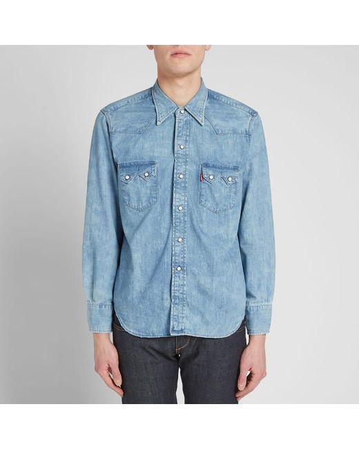 653e68ba21 ... Lyst Levi s - Blue Levi s Vintage Clothing 1955 Sawtooth Shirt for Men  ...