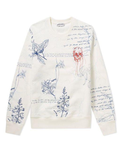 Alexander McQueen - White Embroidered Skull & Explorer Print Sweat for Men - Lyst