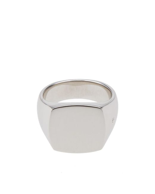 Tom Wood - Metallic Cushion Polished Ring for Men - Lyst