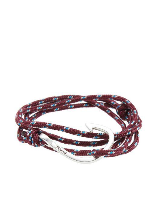 Miansai - Multicolor Silver Hook Rope Bracelet for Men - Lyst