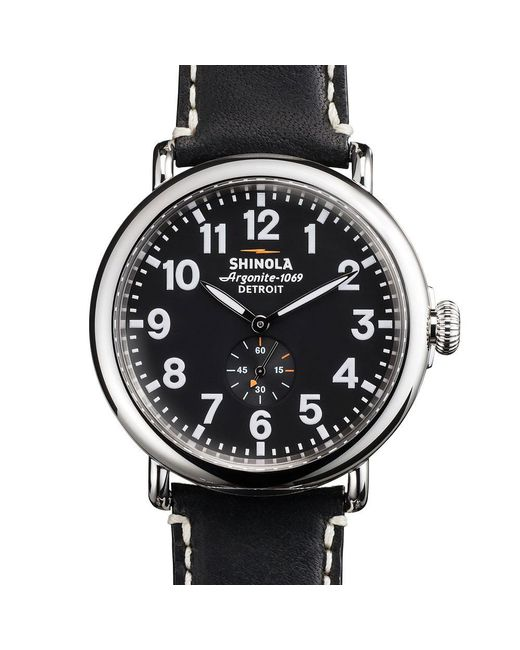 Shinola | Black Runwell 47mm Watch for Men | Lyst