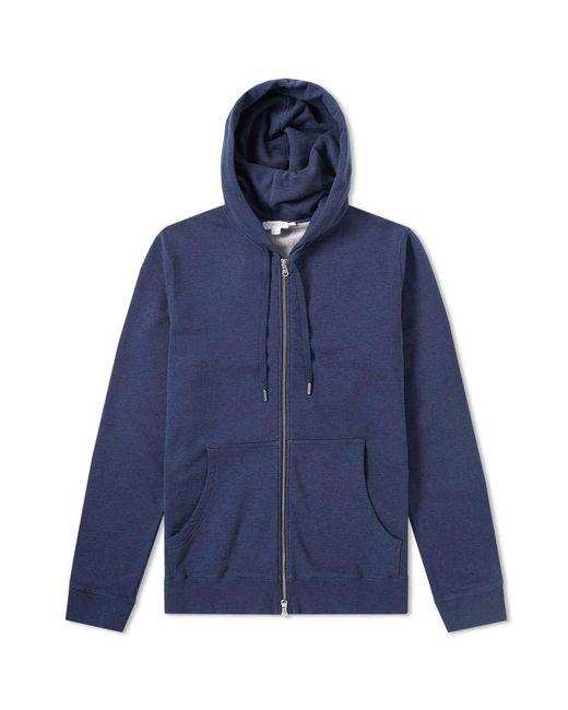 Sunspel   Blue Loopback Zip Hoody for Men   Lyst