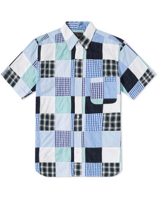 Beams Plus - Blue Short Sleeve Patchwork Shirt for Men - Lyst