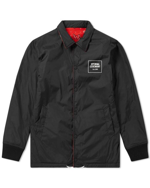 Opening Ceremony - Black Reversible Signature Coach Jacket for Men - Lyst