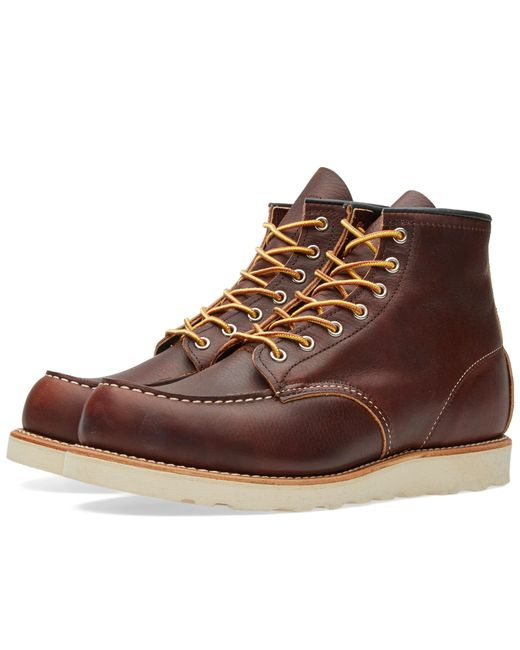 "Red Wing - Brown 8138 Heritage Work 6"" Moc Toe Boot for Men - Lyst"