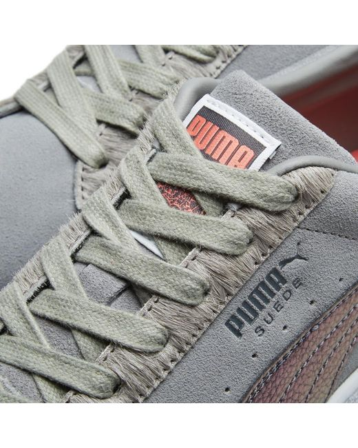 00c5b0abe579 ... Lyst PUMA - Gray X Staple Suede  pigeon  for Men ...