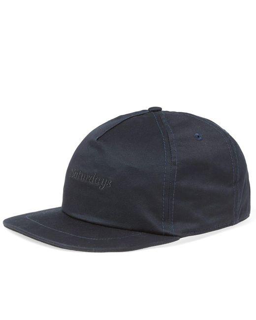 Saturdays NYC - Blue Stanley Italics Cap for Men - Lyst