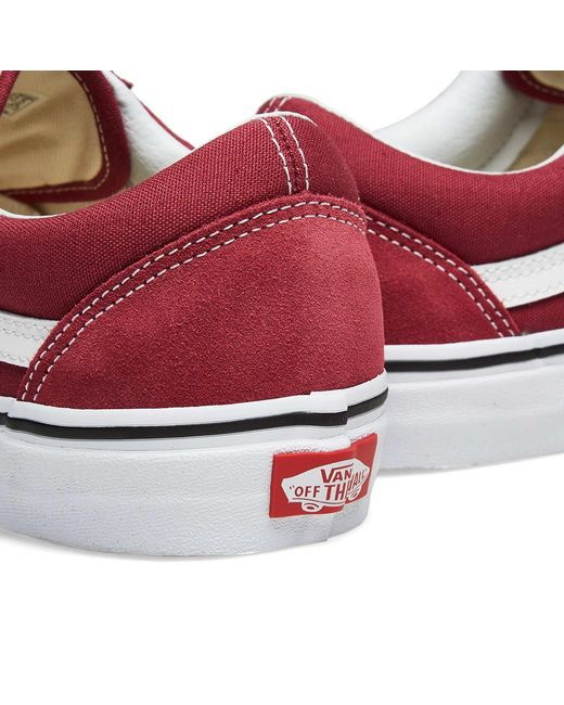 515b7ec2465ddc ... Vans - Red Old Skool for Men - Lyst ...