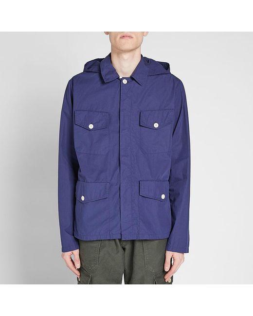 883199d91bc8 ... Nigel Cabourn - Blue X Lybro Field Shirt Jacket for Men - Lyst ...