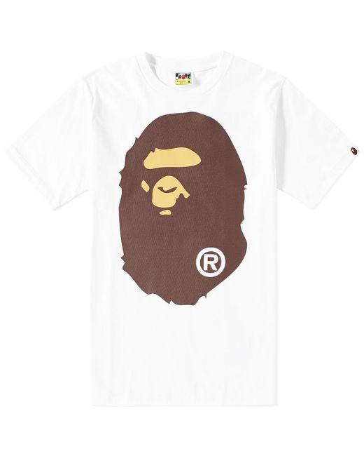 A Bathing Ape | White Big Ape Head Tee for Men | Lyst