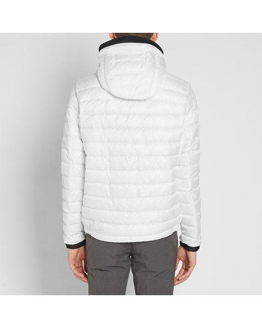 ... Moncler - White Morvan Double Zip Tricolour Placket Jacket for Men - Lyst ...