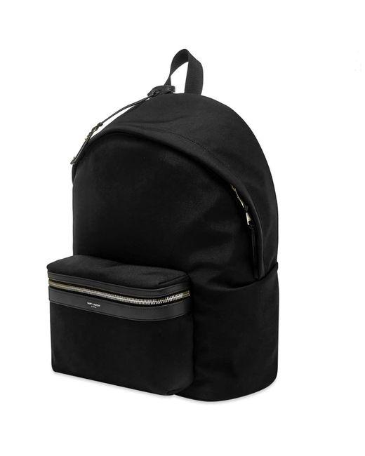 67f08d6c5 ... Saint Laurent - Black Canvas City Backpack for Men - Lyst ...