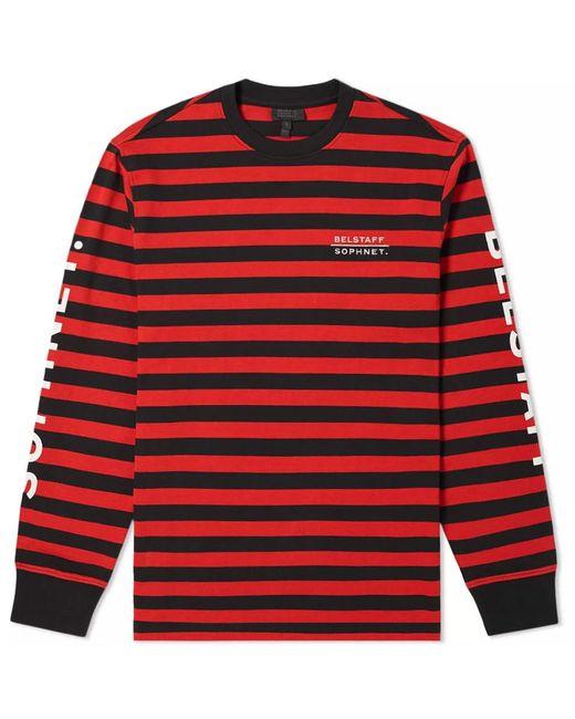 Belstaff - Red X Sophnet. Long Sleeve Brownstone Stripe Tee for Men - Lyst