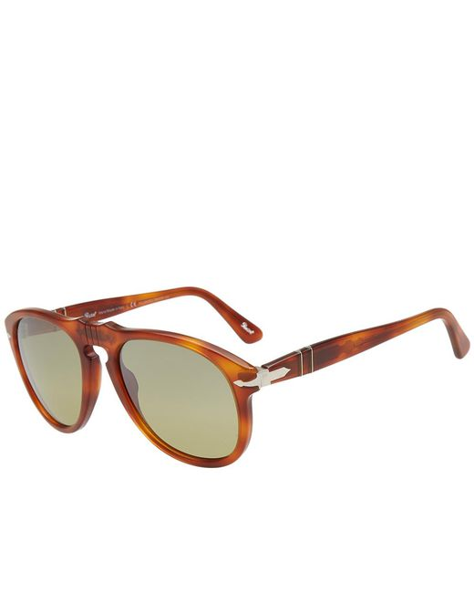 b66a4a088593f Persol - Brown 649 Aviator Sunglasses for Men - Lyst ...