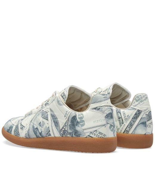 Lyst maison margiela 22 dollar replica sneaker in gray for Maison margiela 22