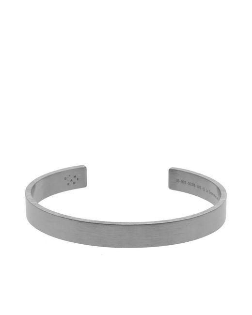 Le Gramme - Black Brushed Ribbon Bracelet for Men - Lyst