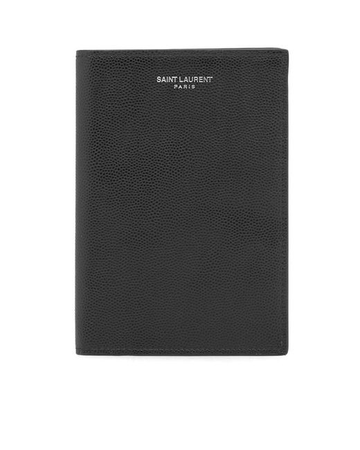 Saint Laurent - Black Grain Passport Holder for Men - Lyst