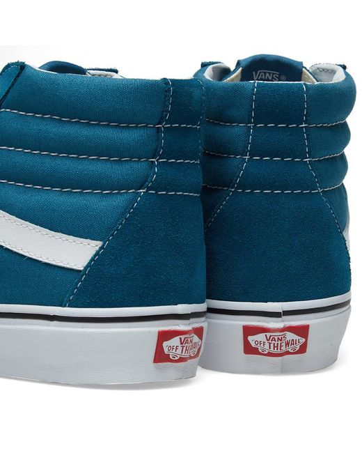 37fa32a928 ... Vans - Blue Sk8-hi for Men - Lyst ...