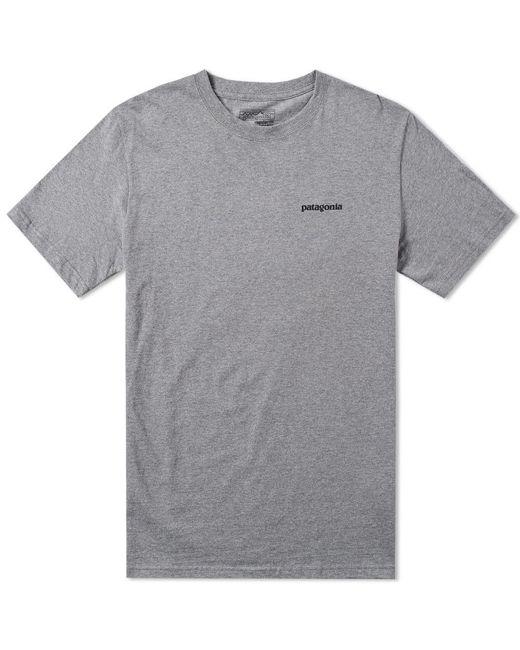 Patagonia - Gray P6 Logo Tee for Men - Lyst