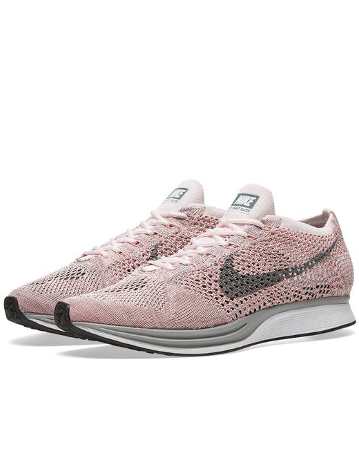 Nike   Pink Flyknit Racer for Men   Lyst