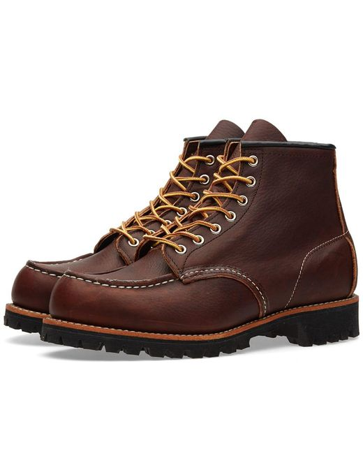 """Red Wing - Brown 8146 Heritage Work 6"""" Moc Lug Boot for Men - Lyst"""