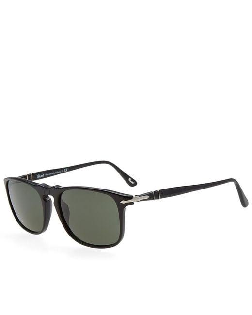 Persol - Black 3059s Square Framed Aviator Sunglasses for Men - Lyst