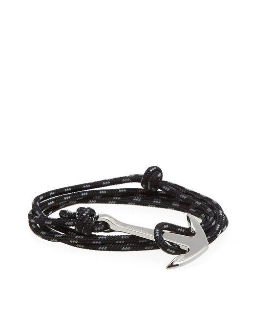 Miansai - Black Silver Anchor Rope Bracelet for Men - Lyst