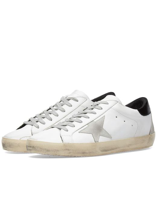 Golden Goose Deluxe Brand - White Superstar Leather Sneaker for Men - Lyst