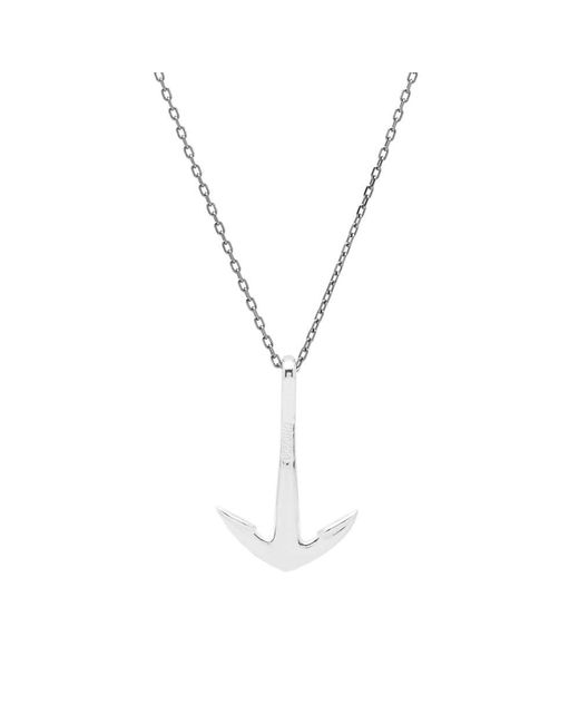 Miansai - Metallic Silver Anchor Necklace - Lyst