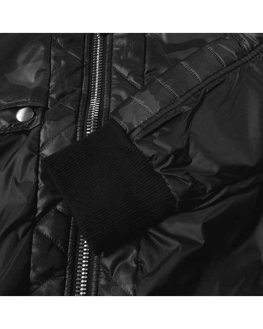 919fb0c3845d6 Balmain Hooded Camo Zip Biker Jacket in Black for Men - Save 16% - Lyst
