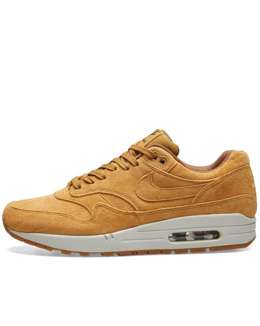 e8aaa4f296 Lyst - Nike Air Max 1 Premium in Brown for Men - Save ...