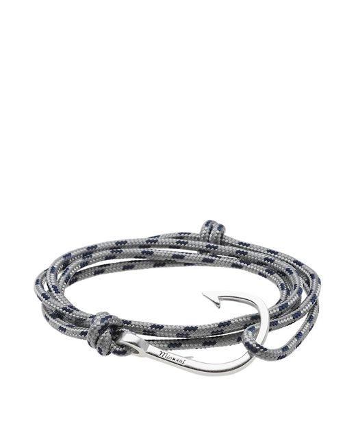 Miansai - Gray Silver Hook Rope Bracelet for Men - Lyst