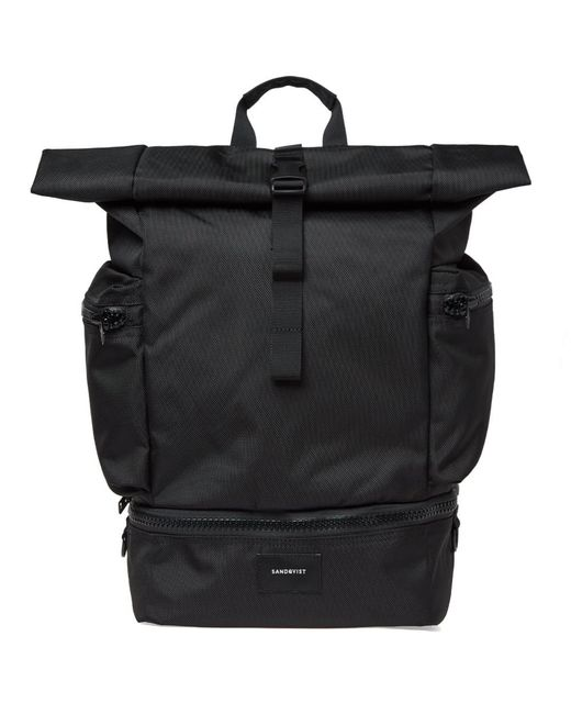Sandqvist - Black Verner Ballistic Roll Top Backpack for Men - Lyst